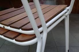 tubular steel stacking garden chairs