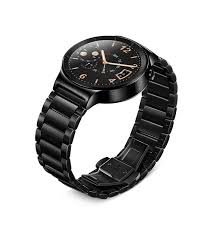 huawei w1. huawei w1 watch stainless steel link black