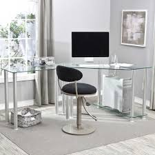 desk contemporary glass office desk in black tempered glass desk