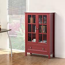 furniture corner curio cabinets gl door display cabinet upper