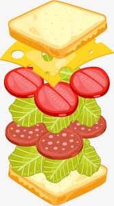 sandwich clipart. Interesting Clipart Cartoon Sandwich Gourmet Cartoon Clipart Sandwich Food PNG Image  And Clipart In D