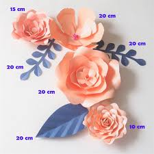 Diy Giant Paper Rose Flower Diy Giant Paper Flowers Backdrop Artificial Glittered Pink