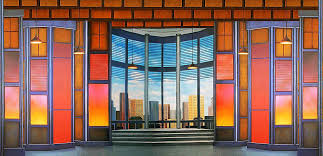 office backdrop. Image Of Contemporary Office Interior Scenic Backdrop T