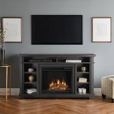 real flame belford 56 inch electric fireplace entertainment center gray 7330e gry gas log guys