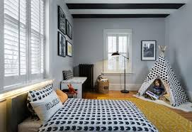 boys bedroom design. The Black And White Patterned Bedspread Teepee Give This Toddler Boys Bedroom A Modern Feel. Design Y