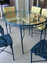 brown jordan patio furniture regency 9 brown patio set dining table arm chairs end tables bamboo