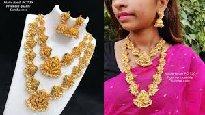 Gold Necklace And Haram Set Designs New Arrival One Gram Gold Necklace And Haram Set Combo