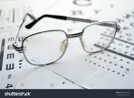 Glasses On Test Chart Chart Extreme Stock Photo Edit Now