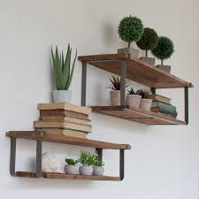earth friendly furniture. Recycled Wood And Metal Floating Shelves, Set Of 2 - Upper Earth Friendly Furniture I