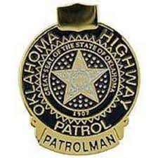 details about ok oklahoma highway patrol mini badge pin new police lapel pin