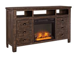 solid wood tv stand with fireplace. Signature Design By Ashley TrudellExtra Large TV Stand With Fireplace Insert Intended Solid Wood Tv