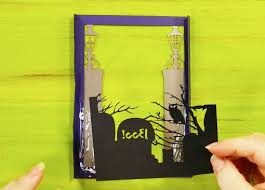 I don't quite know how that will be worded on the invite but i'll figure something. Halloween Card Haunted Mansion Shadow Box Jennifer Maker