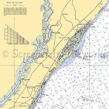 South Carolina Murrells Inlet Nautical Chart Decor