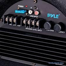 pyle pltab8 250 watt 8 inch amplified tube car subwoofer pyle pltab8 250 watt 8 inch amplified tube car subwoofer amplifier detail