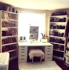 makeup vanity inside closet area in bedroom best ideas on table walk insi stunning makeup vanity in closet