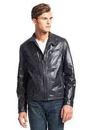 kenneth cole new york men s leather jacket dust x large