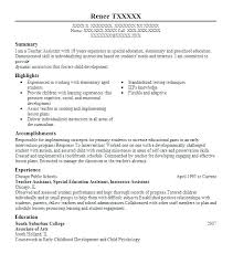 Ultimate Sample Resume Special Education Teacher Assistant On Free ...