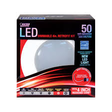feit 4in dia white led recessed light kit ledr4 830 ace hardware