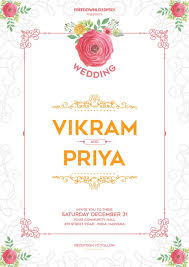 Wedding Invitation Templates Free Download Template Ideas Indian