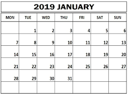 monthly printable calendar january 2019 monthly printable calendar free printable calendar