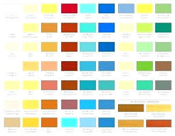 Paint Colour Chart Crown Paint Charts Paint Charts Dulux Valspar Paint Colors Bq