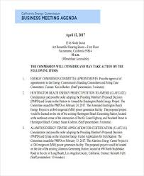 10 Business Meeting Agenda Examples Samples Examples
