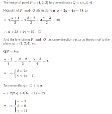 how to find image of point in a plane