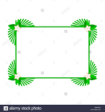 Green Square Summer Frame Or Border Design Elements Set For Web