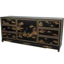 furniture buffet. oriental furniture black lacquer landscape buffet m