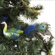 Glas Weihnachtsbaumschmuck Pfau Mit Federn Weihnachtsbaumkugel Christbaumschmuck
