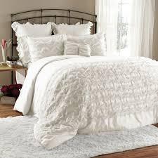 bedding ruched ruffle bedding black ruffle comforter set off white for white ruffle comforter