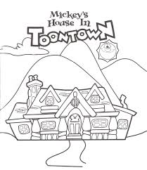 Small Picture Mickeys House at Mickeys Toontown Fair DISNEYColoring Pages