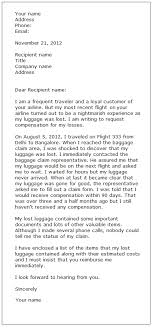 complaint letter examples complaint letter sample 3 formal letter samples