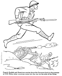 Army Printable Coloring Sheet American Military History Coloring