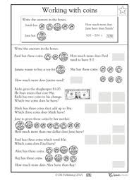Money word problem worksheets - Counting coin | GreatSchoolsCounting coins. In this money math worksheet, your child will solve word problems ...