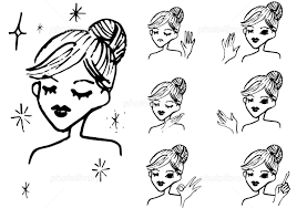 線画のかわいい女性 イラスト素材 5602381 フォトライブラリー