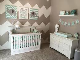 image of baby room ideas wall chevron