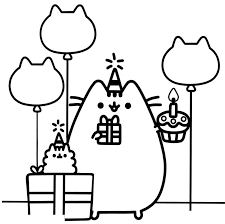 Pusheen Coloring Pages Get Coloring Page