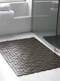 bathroom bath mat bamboo design dark floor