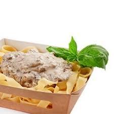 Доставка горячих блюд и организация горячего питания Паста с грибами в сливочном соусе