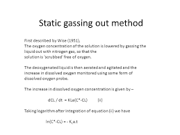 10 static gassing out method