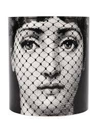 Fornasetti Art Prints Fornasetti Face Print Plate White Women Lifestyle Homeware