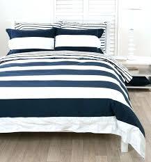 navy white bedding blue