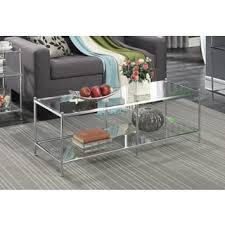 glass coffee table. Clay Alder Home Logan Glass Coffee Table F