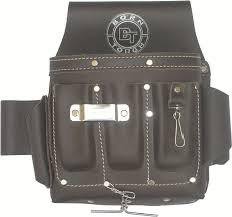 klein leather tool belt. 10 pocket oil tanned leather electricians tool pouch bag - amazon.com klein belt l