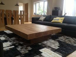 image of square wood coffee table