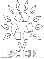 Small Picture Earth Day coloring pages Recycling