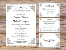 Disney Fairytale Wedding Invitation Suite Mickey Magic