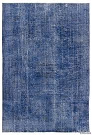blue over dyed turkish vintage rug 6 9 x 10 81 in x 120 in