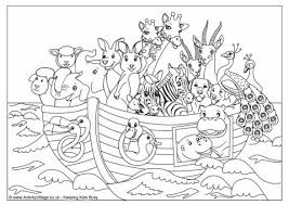 Noah S Ark Colouring Page